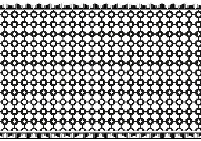 Vettore in bianco e nero azteco libero