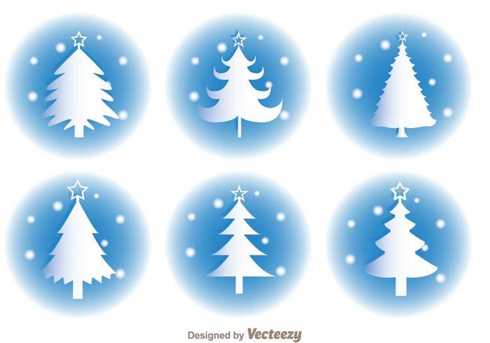White Christmas Silhouette Vectors