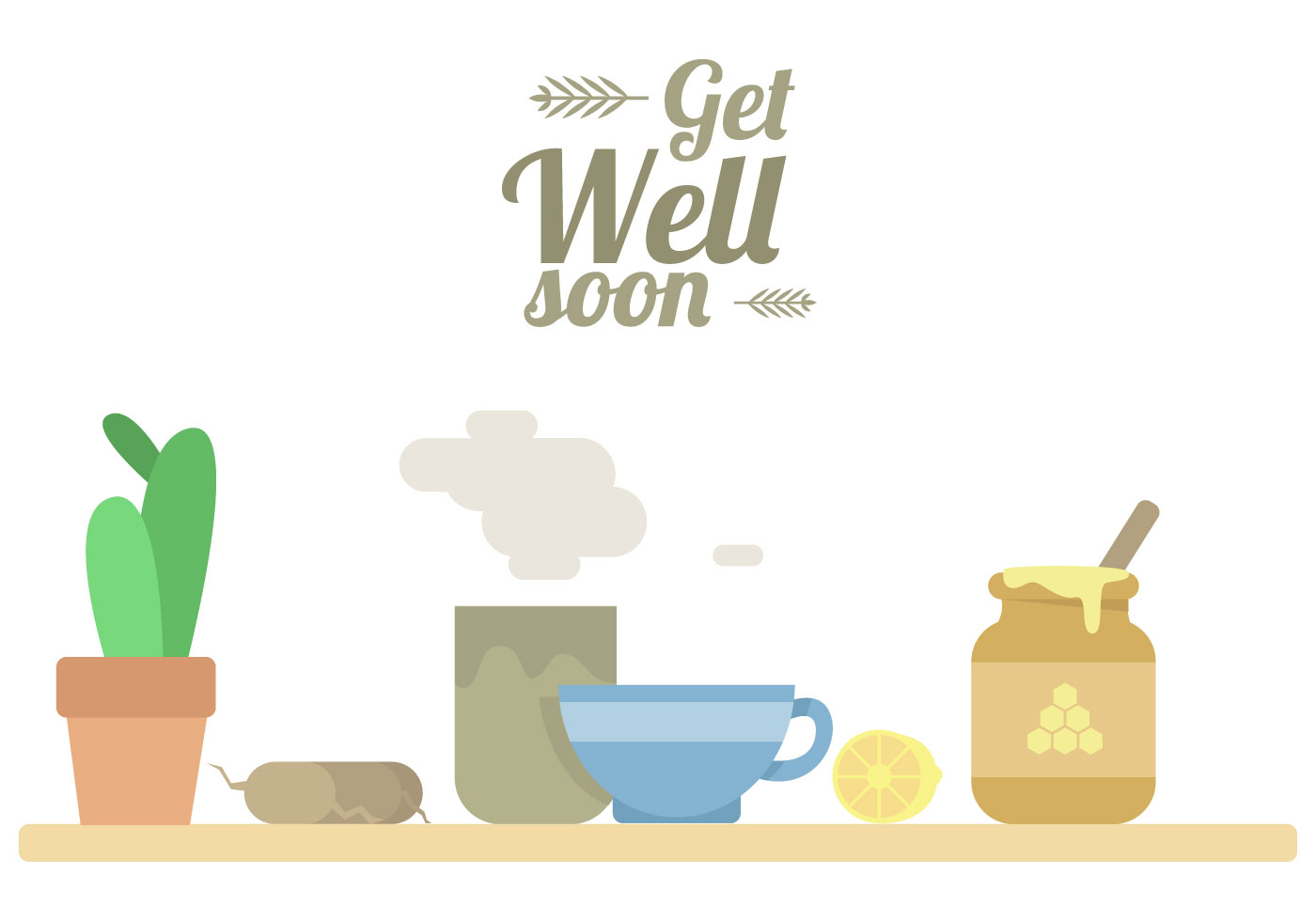 Get Well Soon Cards Free Vector Art 19571 Free Downloads