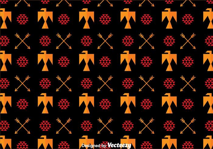 Aztec Bird Ornament Pattern