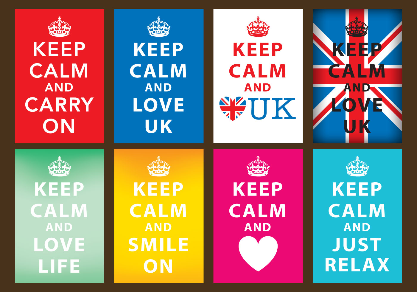 Free keep calm crown vector