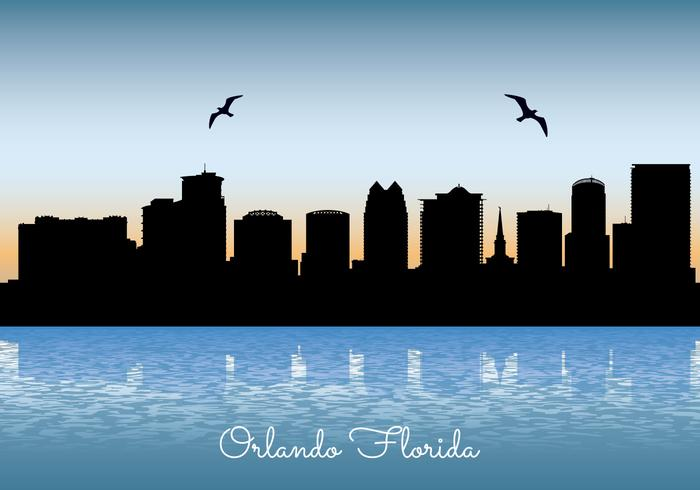 Orlando Skyline Illustration