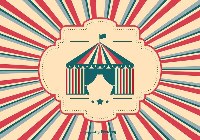 Retro Style Circus Background Illustration