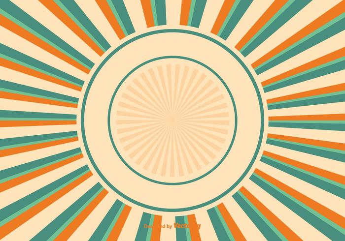 Bunte Sunburst Hintergrund Illustration