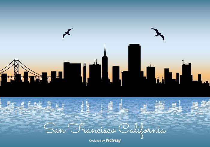 san francisco skyline illustration download free vector art stock rh vecteezy com San Francisco Skyline Silhouette san francisco skyline outline vector