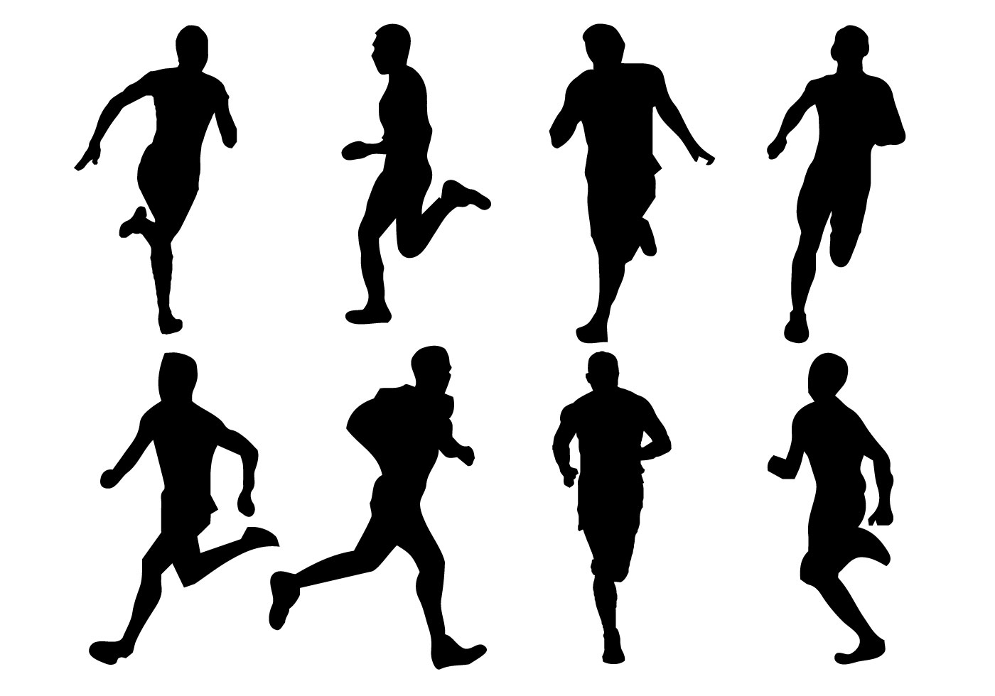 Free Running Silhouette Vector - Download Free Vector Art ...