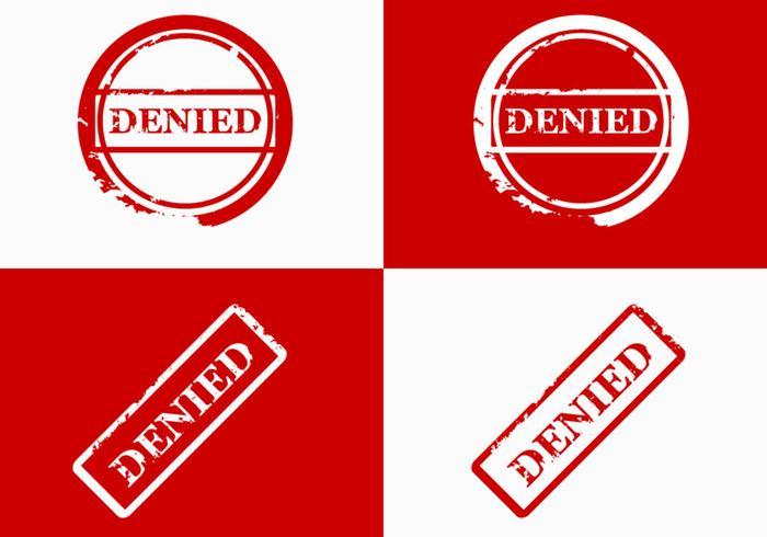 Denied Stamp Vector design