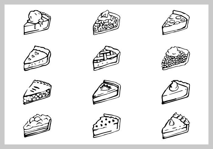 Conjunto de ilustração de torta de maçã grátis