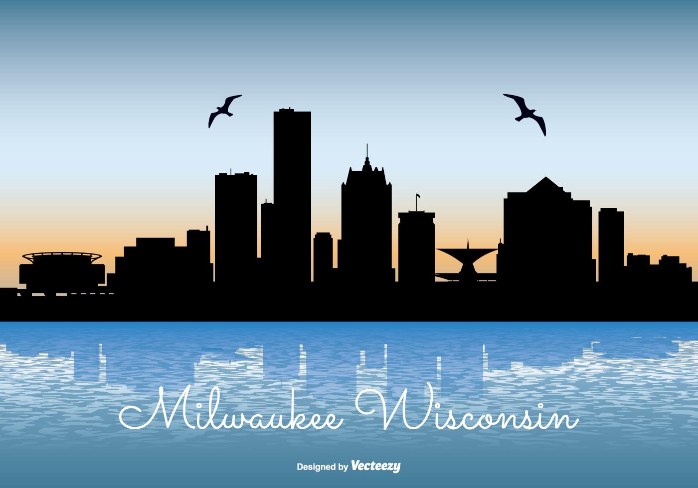 milwaukee skyline illustration download free vector art Boston Skyline Silhouette Boston Massachusetts Skyline
