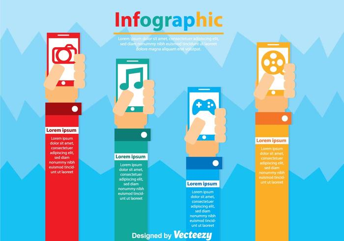 Smarrtphone Infographic Vectors