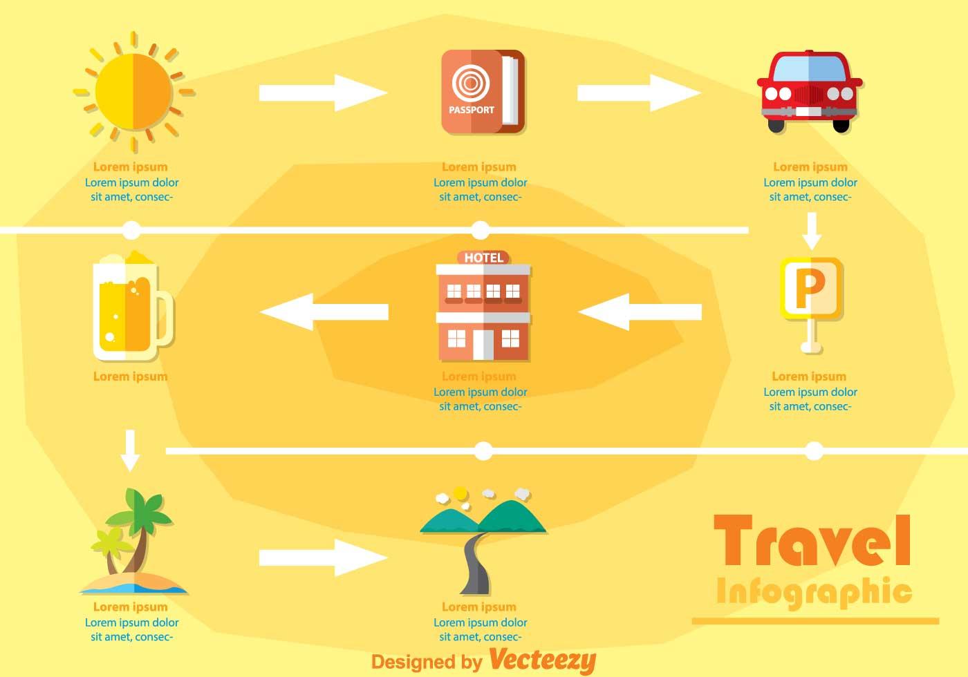 Travel Infography Vectors Download Free Vector Art
