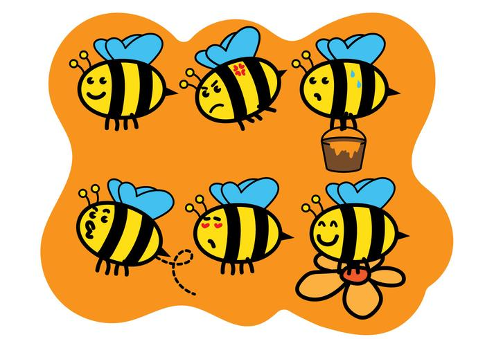Cute Bee Vectors