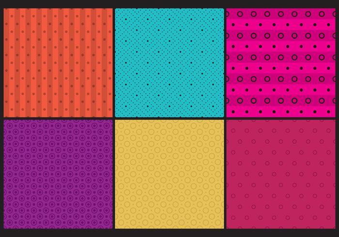 Kleurrijke stippenpatronen