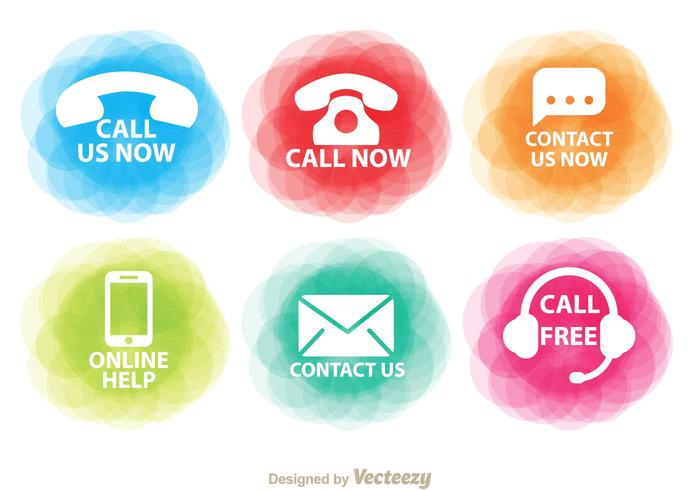 Colorful Contact Icons