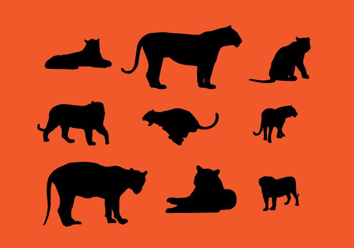 Tiger Silhouette Vector Pack