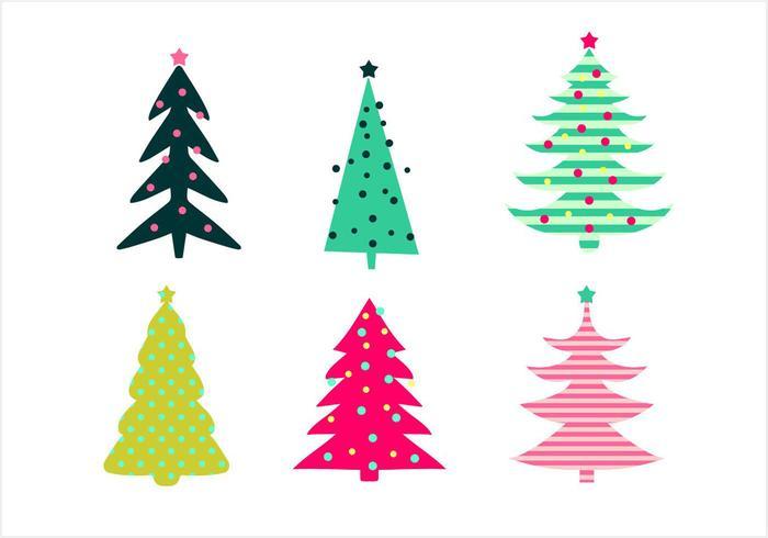 Árbol de Navidad Vector Set