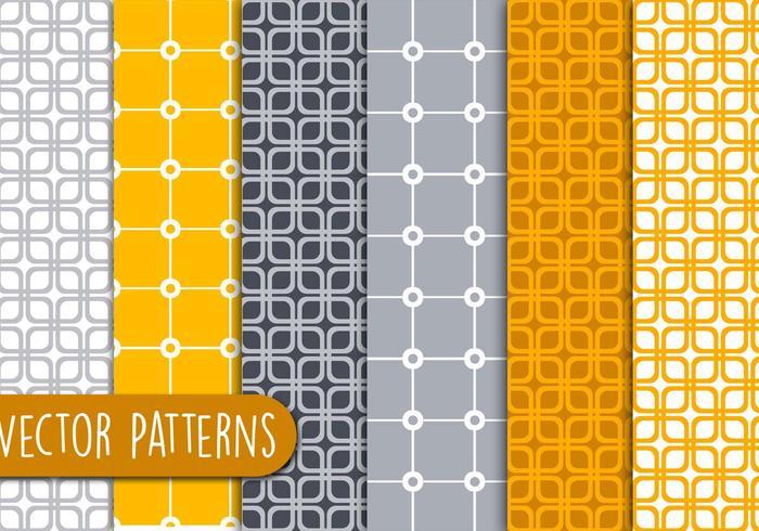 Orange geometriska mönster