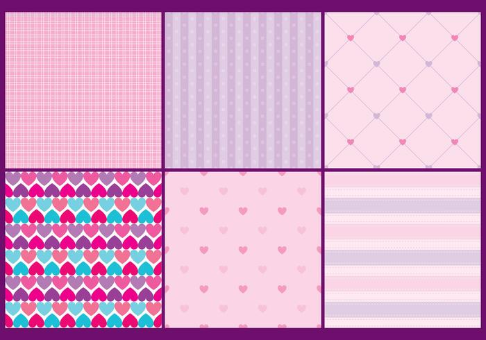 Girly Heart Patterns