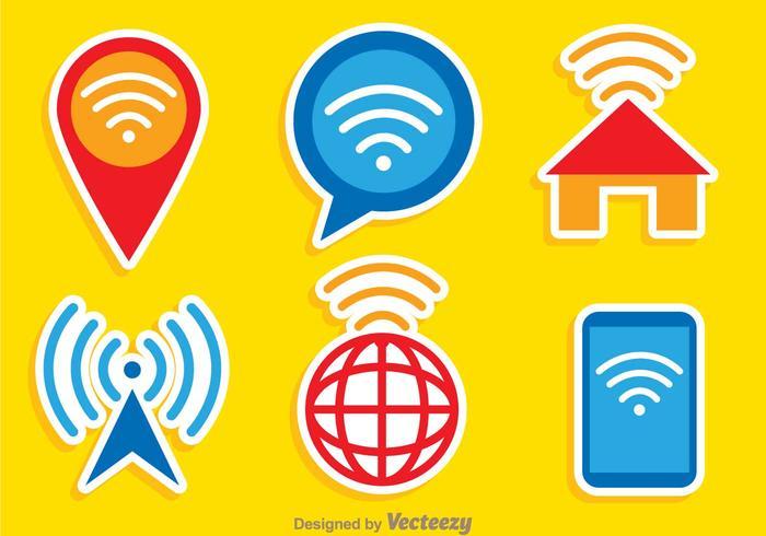 Wifi Colores Logo Vector