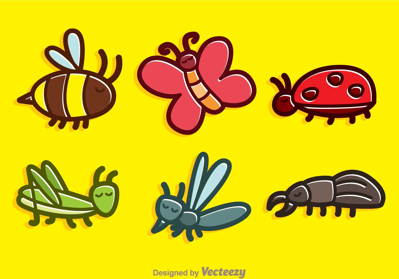 cute insect cartoon vectors download free vector art Heart Vector Flying Butterfly Vector