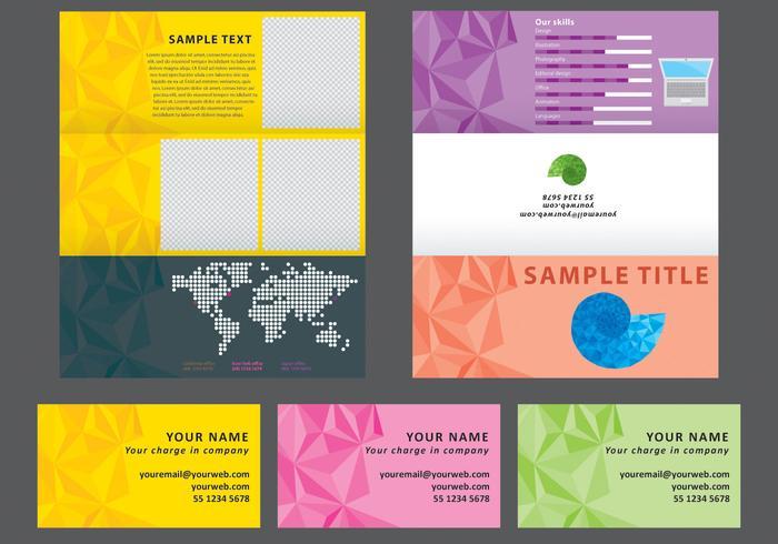 Geometric Horizontal Brochure Vector