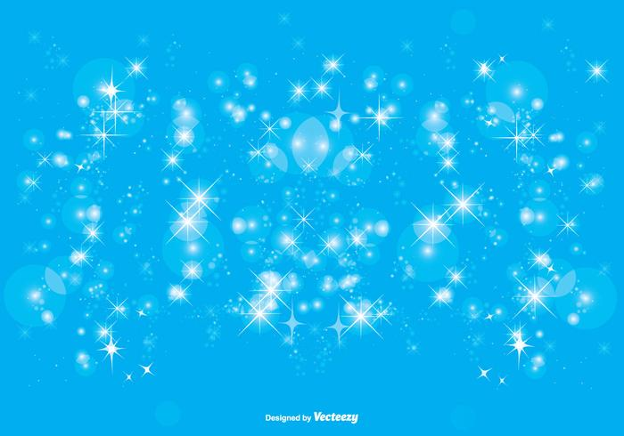 Blue Sparkle Background Illustration