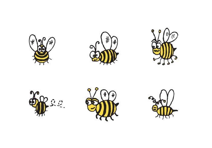 Gratis Söt Bee Vector Series