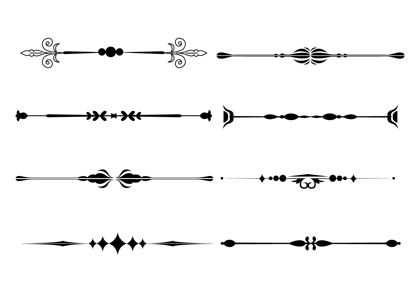 Line Art Vector Illustrator : Fancy line ornament vectors download free vector art