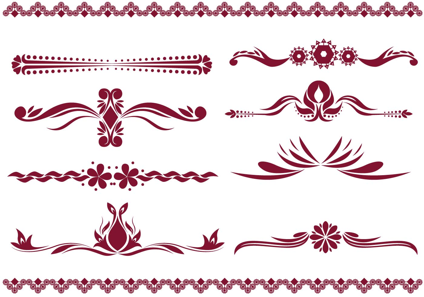 Line Drawing Vector Graphics : Decorative lines vector clipart free download