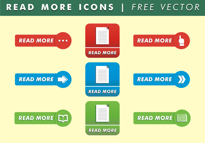 Read More Media Icons Free Vector