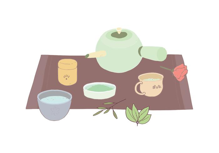 Tea set illustration