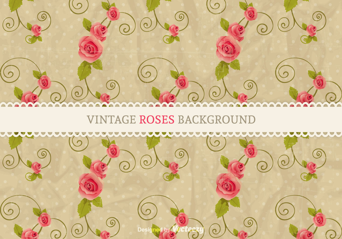 vintage red rose on fabric background  shutterstockcom
