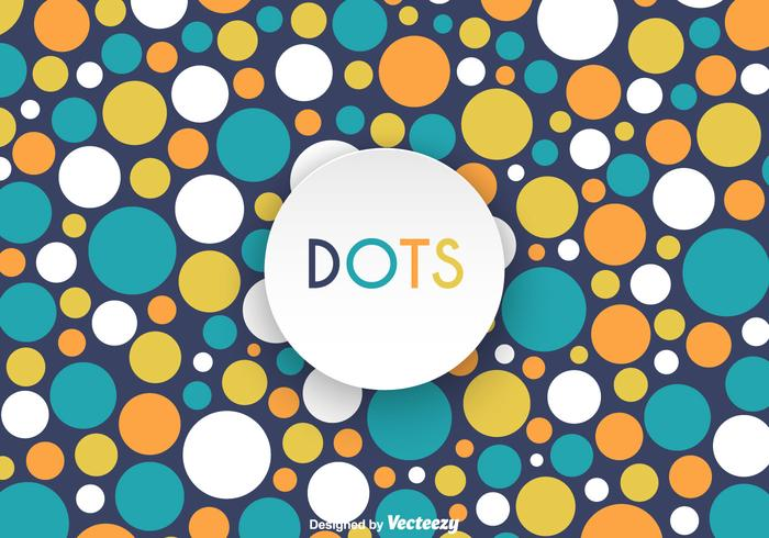 Free Retro Dot Pattern Vector