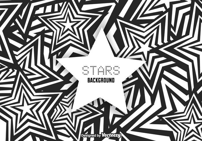 Vecteur de fond d'étoiles funky gratuit