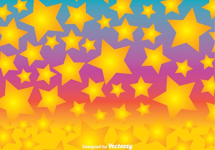 Colorful Fun Star Background Vector