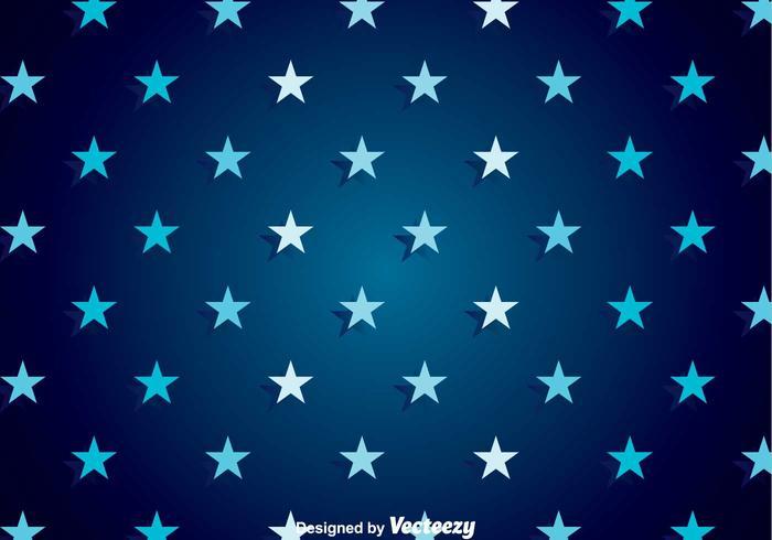Dark Blue Star Background Vector