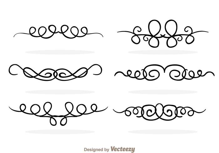 Swirly Line Border Vectors
