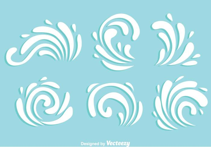 White Swirly Ornament Vectors