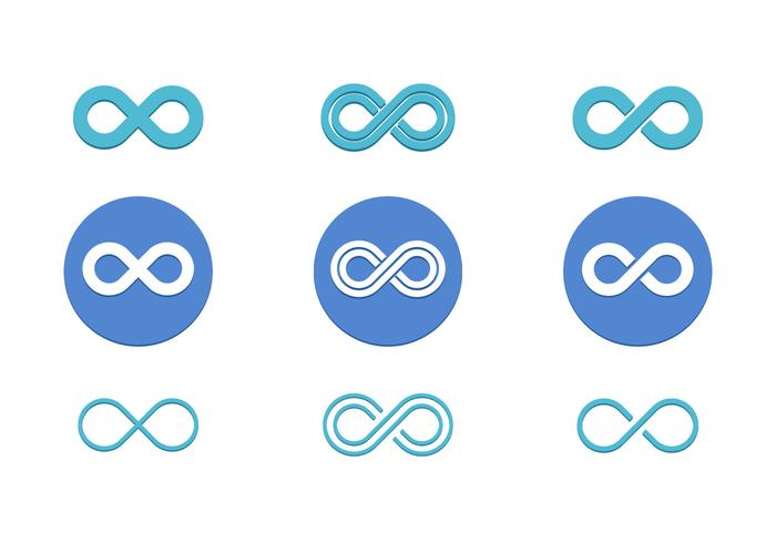 Infinito Loop Vector Pack Icono plano