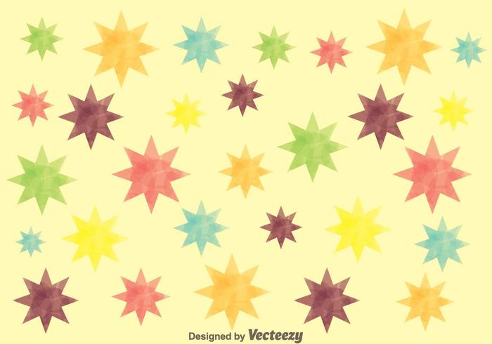 Retro Colorful Star Background
