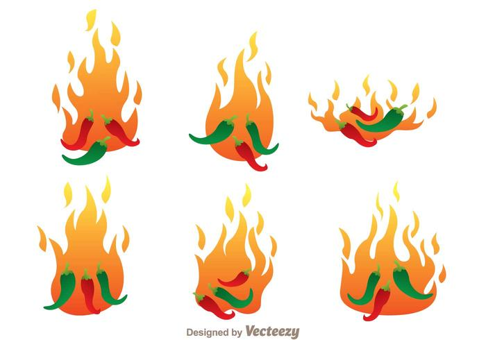 Super Hot Chili Pepper Vectors