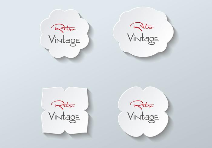 Free Paper Labels Vector