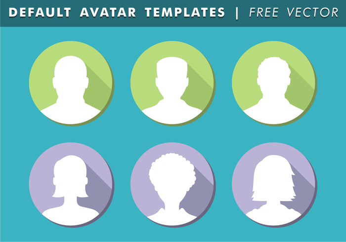 Default Avatar Templates Free Vector