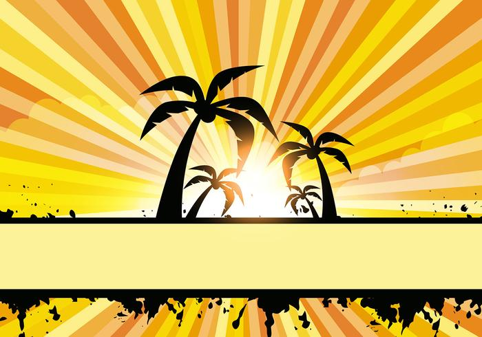 Summer Style Vector with Coconut Tree
