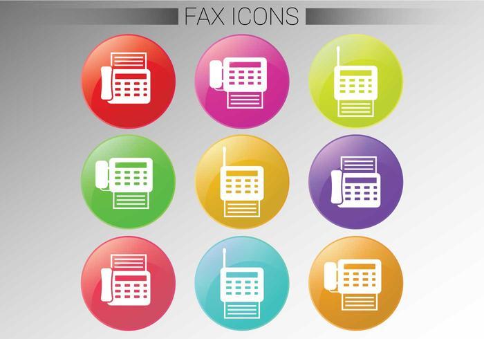 Vecteurs d'icônes de télécopie