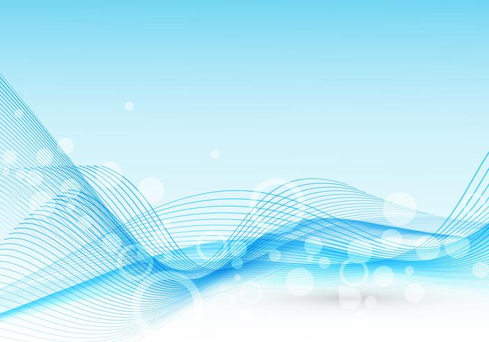 Abstract Light Blue Wave Vector