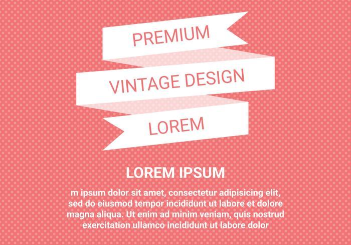 Vector de diseño vintage libre