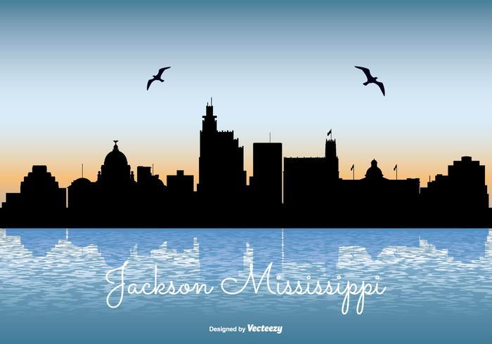 Mississippi Skyline Illustration