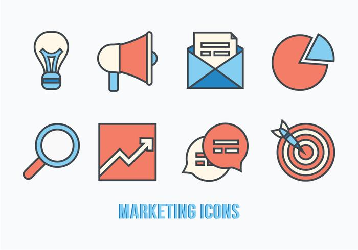 Marketing Icons Vector Pack