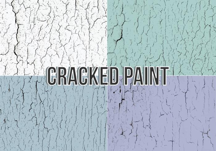 Textura del vector de la pintura agrietada